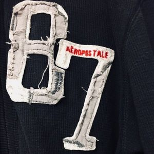 AEROPOSTALE vintage thermal zip up hoodie